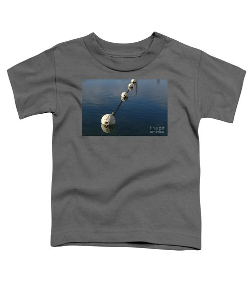 Toddler T-Shirt featuring the photograph Buoys In Aligtnment by Stephen Mitchell