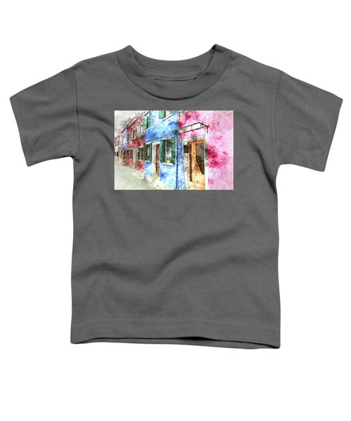 Burano Italy Buildings Toddler T-Shirt