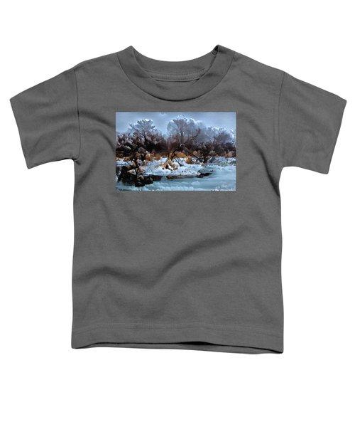 Burgundy Blues Toddler T-Shirt
