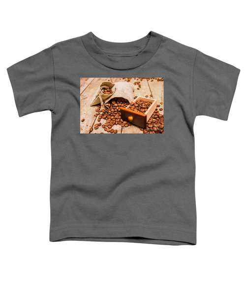 Burlap Bag Of Coffee Beans And Drawer Toddler T-Shirt