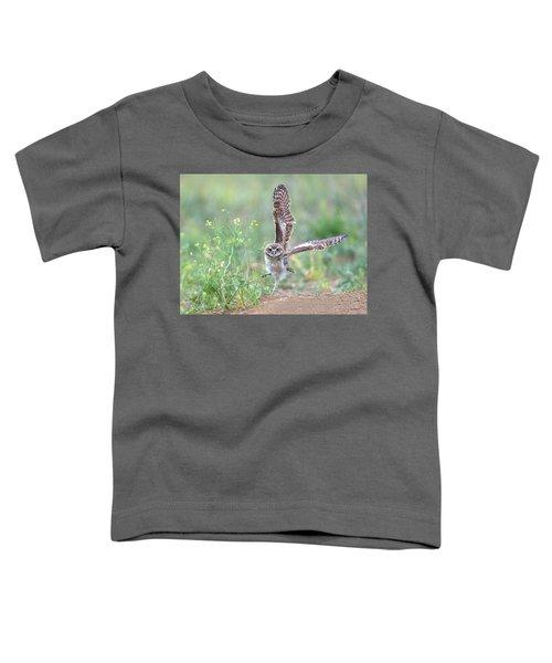 Burrowing Owl Spies Grasshopper Toddler T-Shirt