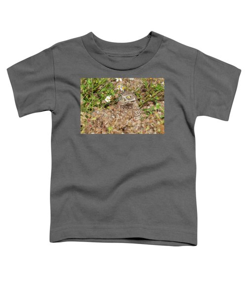 Burrowing Owl With Wide Eye Toddler T-Shirt