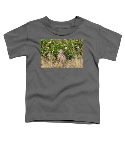 Burrowing Owls Outside Their Den Toddler T-Shirt