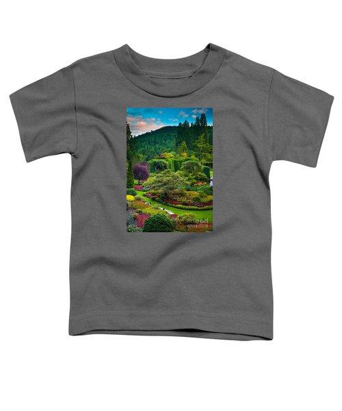 Butchart Gardens Sunset Toddler T-Shirt