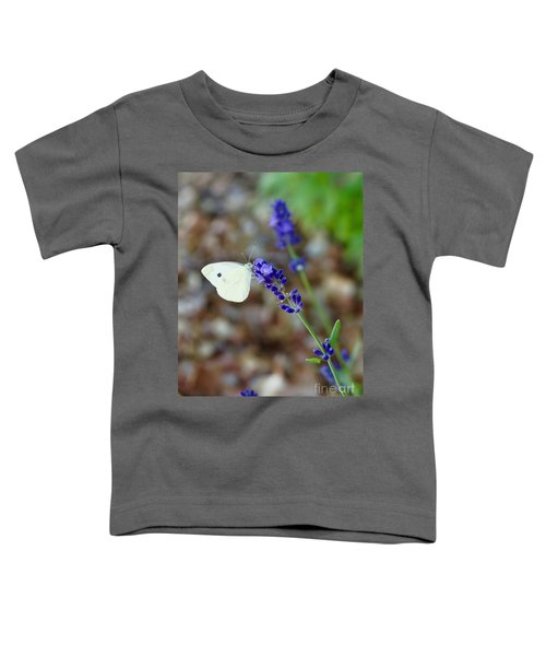 Butterfly And Lavender Toddler T-Shirt