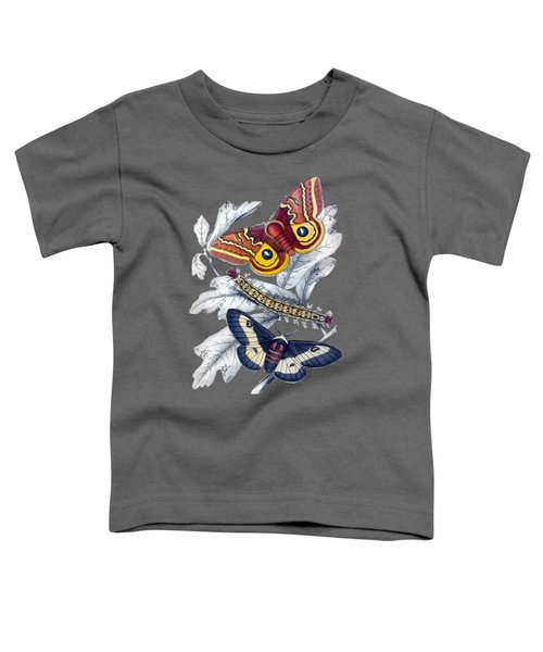 Butterfly Moth T Shirt Design Toddler T-Shirt by Bellesouth Studio
