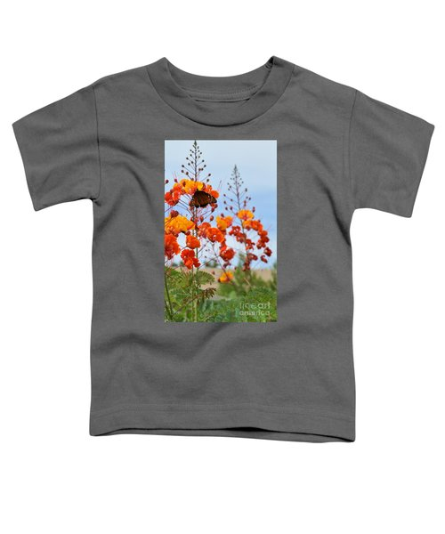 Butterfly On Bird Of Paradise Toddler T-Shirt