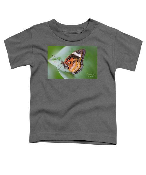 Butterfly On The Edge Of Leaf Toddler T-Shirt