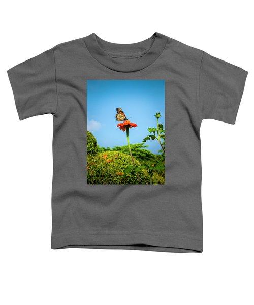 Butterfly Perch Toddler T-Shirt
