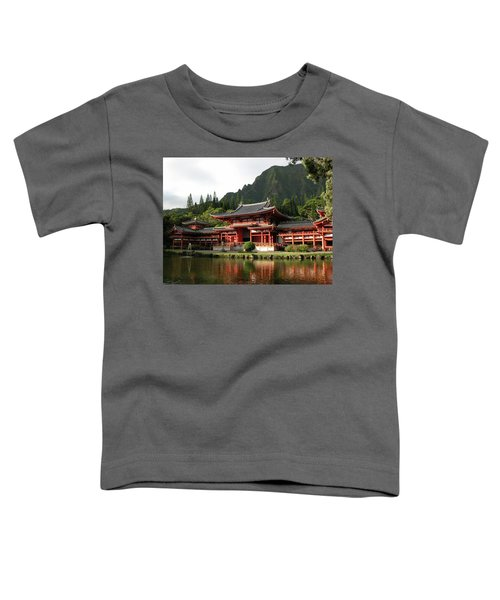 Toddler T-Shirt featuring the photograph Byodo-in Temple, Oahu, Hawaii by Mark Czerniec