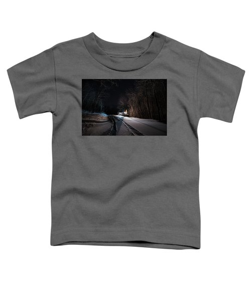 Cabin In The Winter Toddler T-Shirt