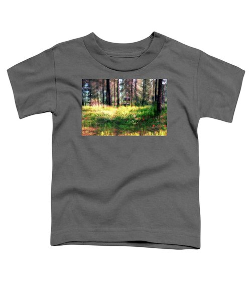 Cabin In The Woods In Menashe Forest Toddler T-Shirt