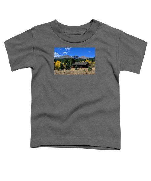Cabin With A View Of Long's Peak Toddler T-Shirt
