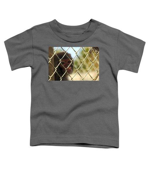Caged Monkey Toddler T-Shirt
