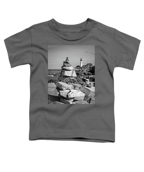 Cairn And Lighthouse  -56052-bw Toddler T-Shirt