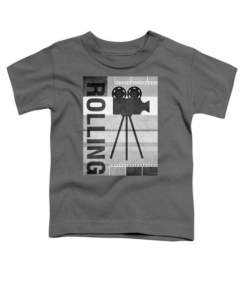 Cameras Rolling- Art By Linda Woods Toddler T-Shirt