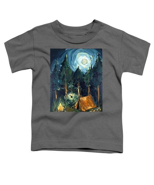 Camp At Night Toddler T-Shirt