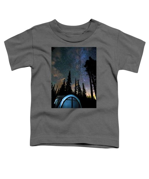 Toddler T-Shirt featuring the photograph Camping Star Light Star Bright by James BO Insogna