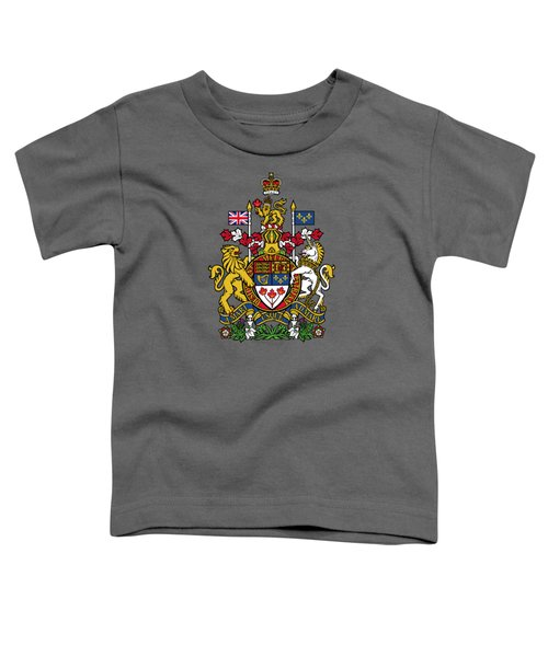 Canada Coat Of Arms Toddler T-Shirt by Movie Poster Prints