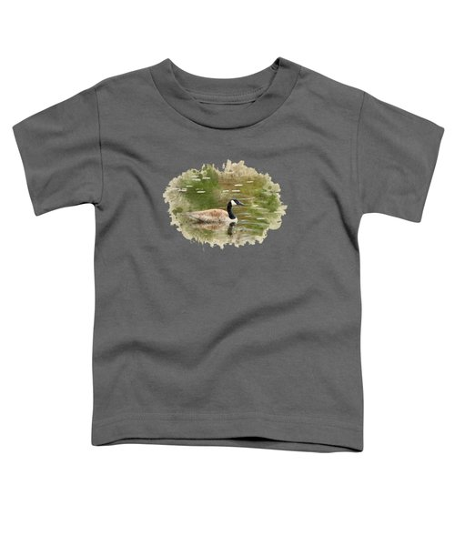 Canada Goose Watercolor Art Toddler T-Shirt by Christina Rollo