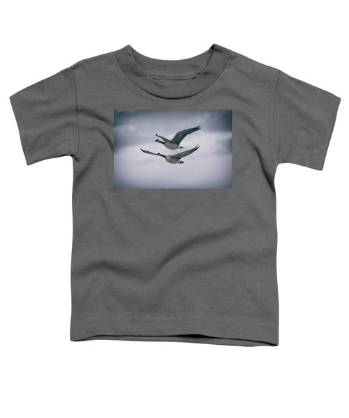 Canadian Geese In Flight Toddler T-Shirt
