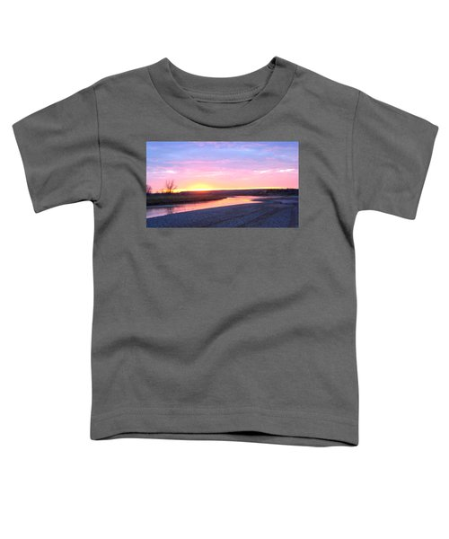 Canadian River Sunset Toddler T-Shirt