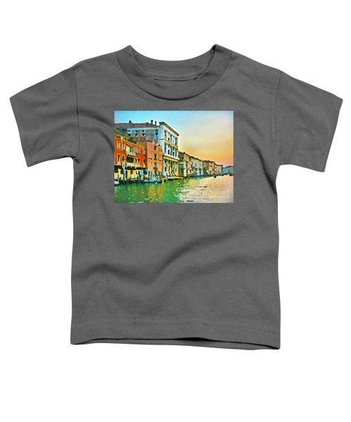 Canal Sunset - Venice Toddler T-Shirt