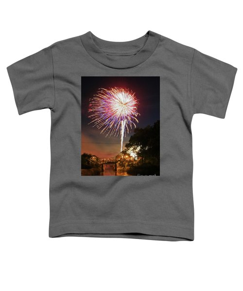 Canal View Of Fire Works Toddler T-Shirt