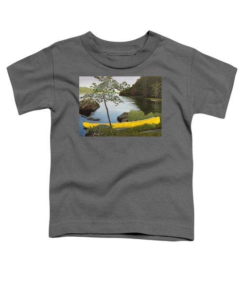 Canoe On The Bay Toddler T-Shirt