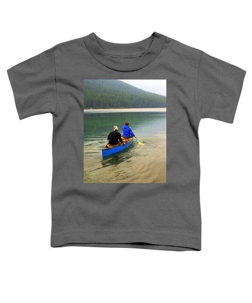 Canoeing Glacier Park Toddler T-Shirt