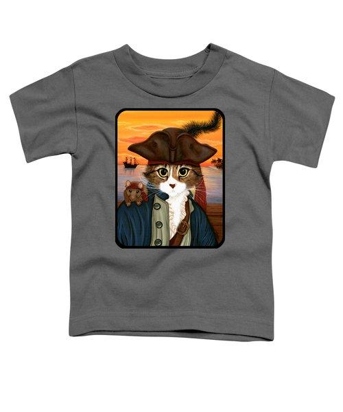 Captain Leo - Pirate Cat And Rat Toddler T-Shirt