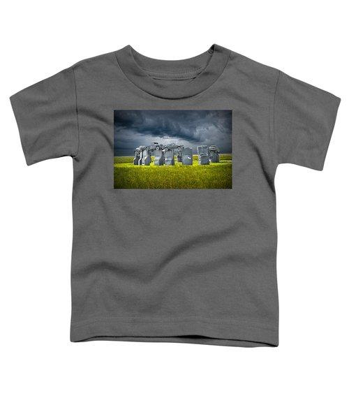 Car Henge In Alliance Nebraska After England's Stonehenge Toddler T-Shirt