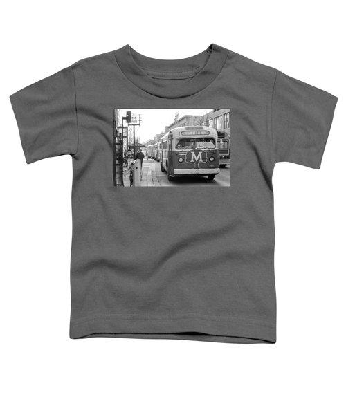 Caravan Of Buses On Nicollet Mall Toddler T-Shirt