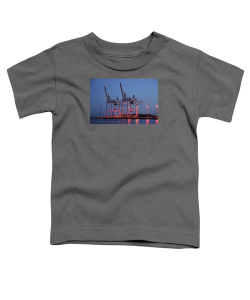 Cargo Cranes At Night Toddler T-Shirt