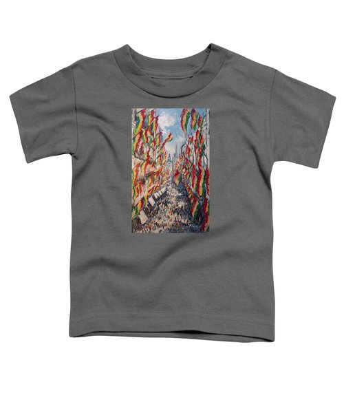 Carnival In The Grote Gracht In Maastricht Toddler T-Shirt by Nop Briex