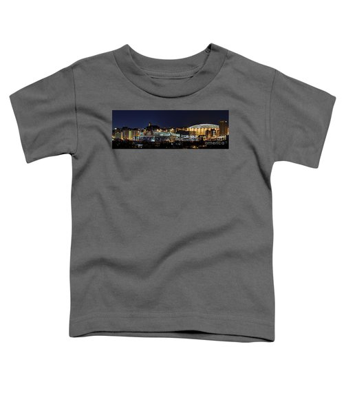 Carrier Dome And Syracuse Skyline Panoramic View Toddler T-Shirt