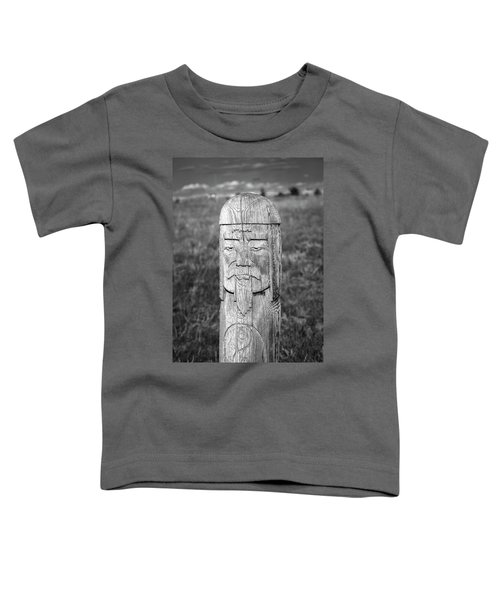 Toddler T-Shirt featuring the photograph Carved Genghis Khan, Elsen Tasarkhai, 2016 by Hitendra SINKAR