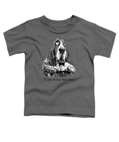 Casablanca Basset Hound Caricature Art Print Toddler T-Shirt