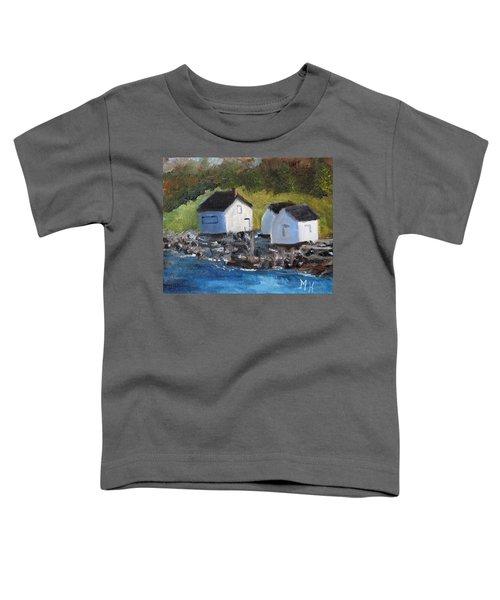 Casco Bay Boat Houses Toddler T-Shirt