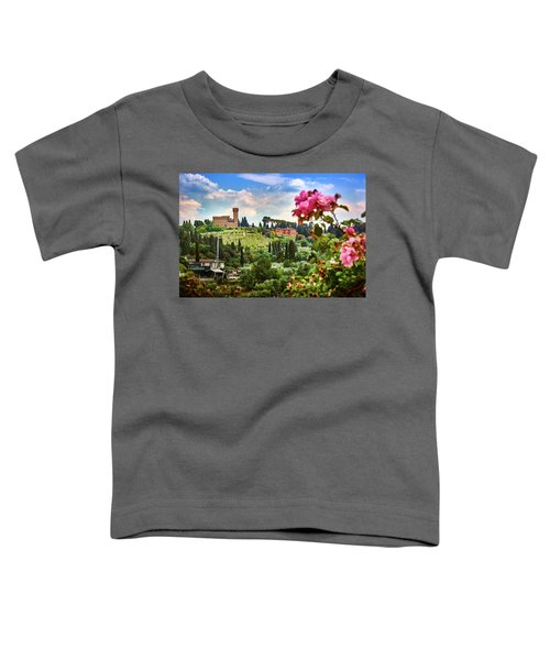 Castle And Roses In Firenze Toddler T-Shirt