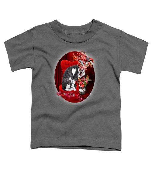 Cat In The Valentine Steam Punk Hat Toddler T-Shirt