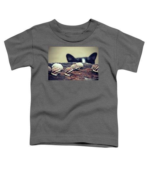 Cat Snails Toddler T-Shirt