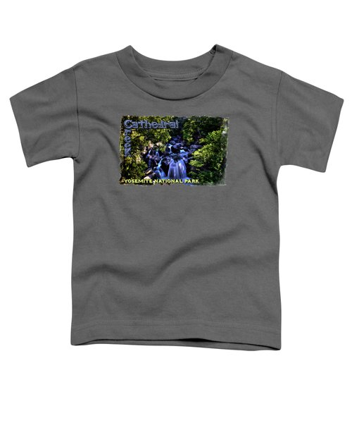 Cathedral Creek Cascade On The Tioga Pass Toddler T-Shirt by Roger Passman