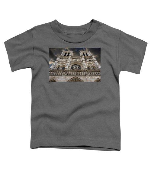 Cathedral Notre Dame Of Paris. France   Toddler T-Shirt