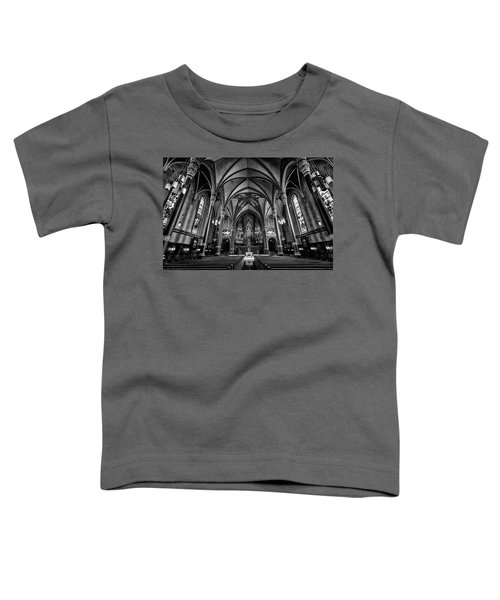 Cathedral Of The Madeline In Black And W Toddler T-Shirt
