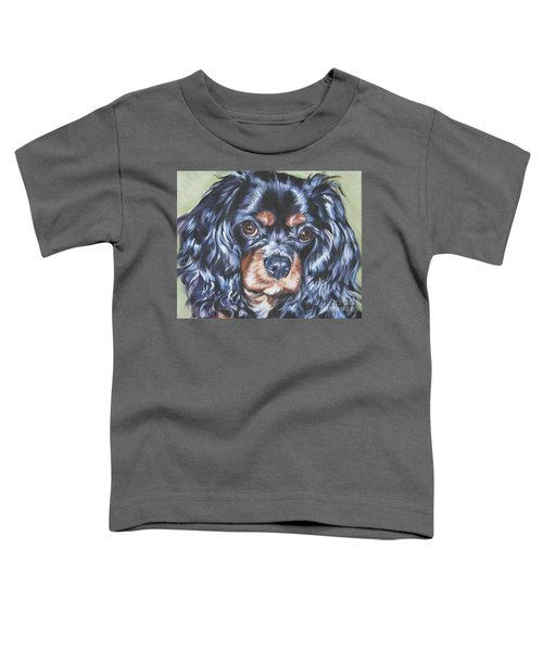 Cavalier King Charles Spaniel Black And Tan Toddler T-Shirt
