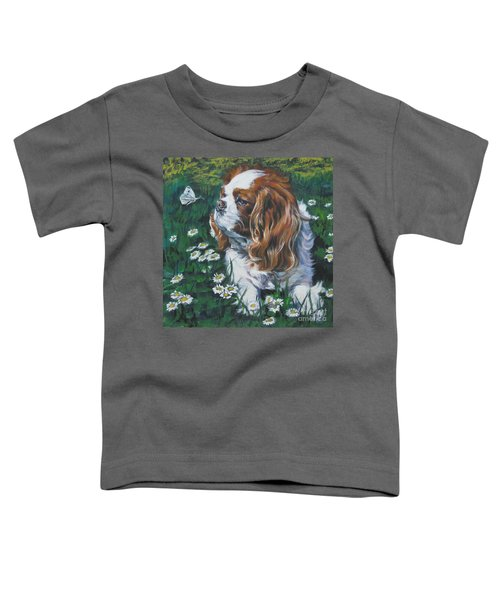 Cavalier King Charles Spaniel With Butterfly Toddler T-Shirt