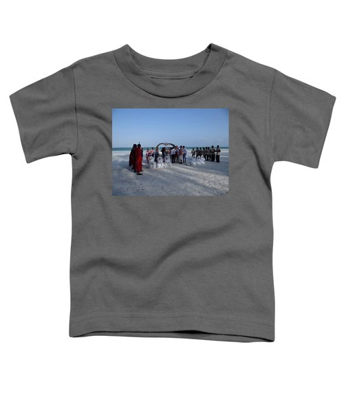 Celebrate Marriage On The Beach Toddler T-Shirt