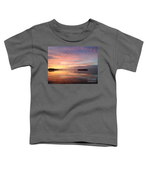Celebrating Sunset In Key Largo Toddler T-Shirt