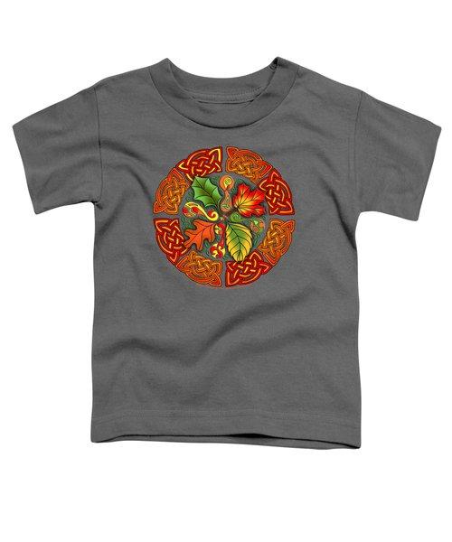 Celtic Autumn Leaves Toddler T-Shirt by Kristen Fox